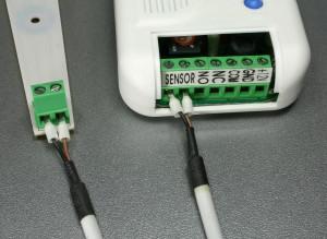1PRO vuoto- ja kosteushälytin keskusyksikön sensorin liitäntä keskus